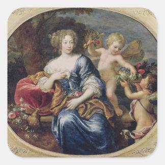 El retrato supuso ser Francoise-Athenais Pegatina Cuadrada