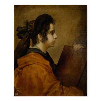 El retrato supuso ser Juana Pacheco como sibila Póster