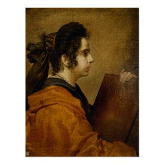 El retrato supuso ser Juana Pacheco como sibila Postal