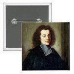 El retrato supuso ser Voltaire como hombre joven Pin Cuadrado