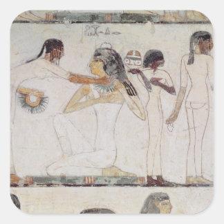 El retrete de mujeres nobles pegatinas cuadradas personalizadas