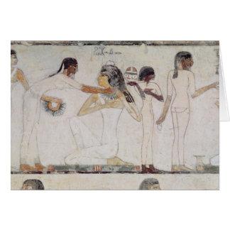 El retrete de mujeres nobles tarjeta de felicitación