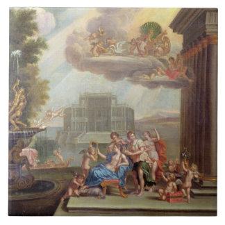 El retrete de Venus, siglo XVIII Azulejo Cuadrado Grande
