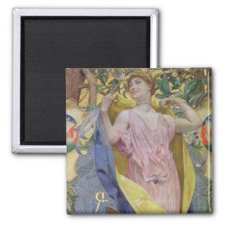 El retrete femenino (el panel) iman de frigorífico