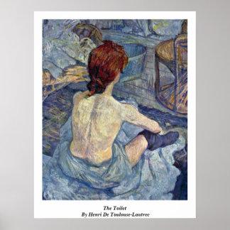 El retrete por Enrique De Toulouse-Lautrec Poster