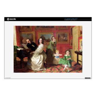 El Rev. y la señora Palmer-Lovell con su hija Portátil Skins