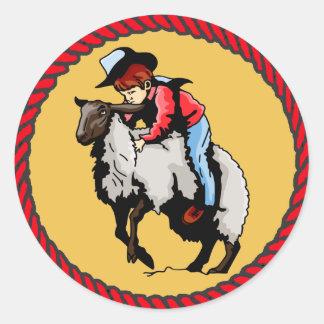 El reventar occidental del cordero del rodeo de