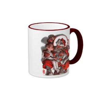 El revestimiento de Santa Taza De Café