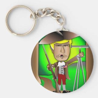 El revolucionario de Donald Llavero Redondo Tipo Pin
