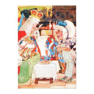 El rey Asks el cocinero en el ensayo del bribón Lienzo Envuelto Para Galerias
