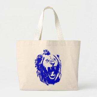 El rey azul Speaks del león Bolsa De Mano