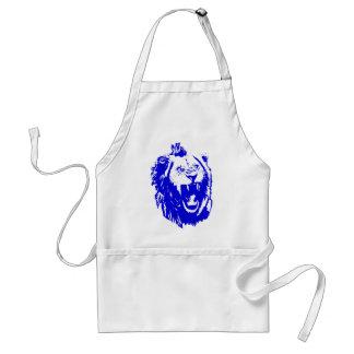 El rey azul Speaks del león Delantal