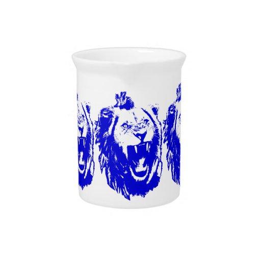 El rey azul Speaks del león Jarra De Beber