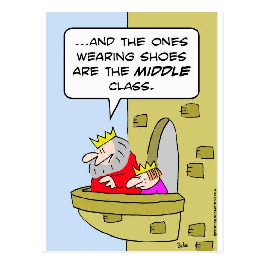 el rey calza al príncipe de la clase media postales