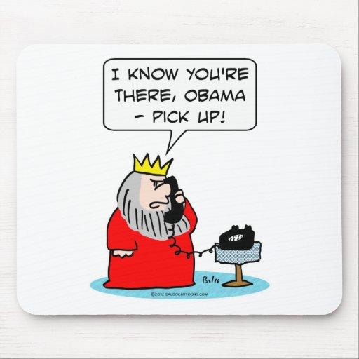 El rey consigue el contestador automático de Obama Alfombrillas De Ratones