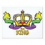 El rey consigue las gotas GRANDES Invitación 10,8 X 13,9 Cm