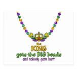 El rey consigue las gotas GRANDES Postal