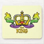 El rey consigue las gotas GRANDES Tapete De Raton