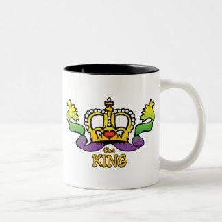 El rey consigue las gotas GRANDES Taza De Dos Tonos