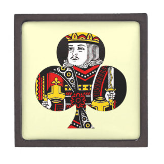 El rey de clubs caja de joyas de calidad