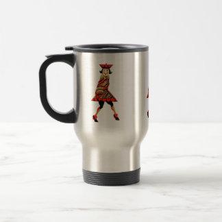 El rey de corazones - ejemplo del vintage taza térmica