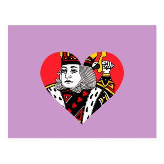 El rey de corazones postales