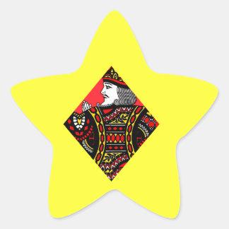 El rey de diamantes pegatina en forma de estrella