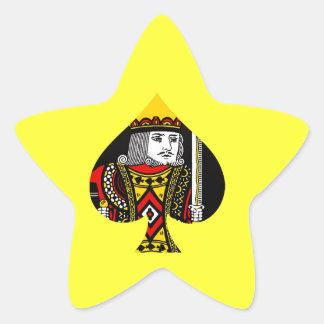 El rey de espadas pegatina en forma de estrella