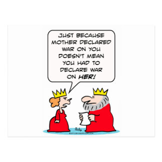 El rey declara guerra en la madre de reina tarjeta postal