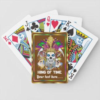 El rey del carnaval de la opinión del tiempo baraja cartas de poker