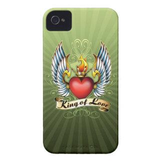 El rey del caso del iPhone 4 del amor Case-Mate iPhone 4 Carcasa