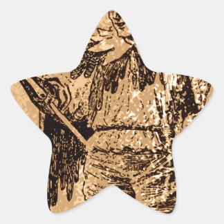 el rey del comodín pegatina en forma de estrella
