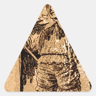 el rey del comodín pegatina triangular