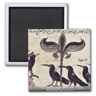 El rey del cuervo y su consejo de Arabischer Maler Imán Cuadrado