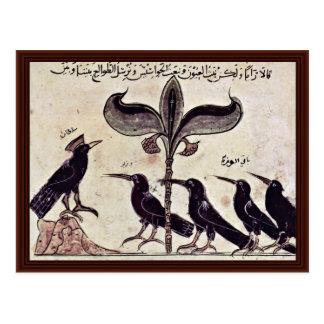 El rey del cuervo y su consejo de Arabischer Maler Postal