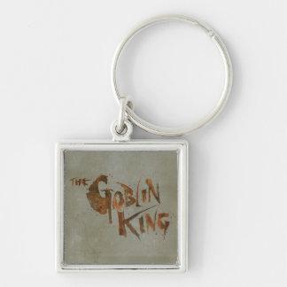 El rey del Goblin Llavero Cuadrado Plateado