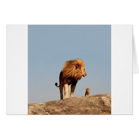 El rey del león (león y Cub adultos) Tarjeta De Felicitación