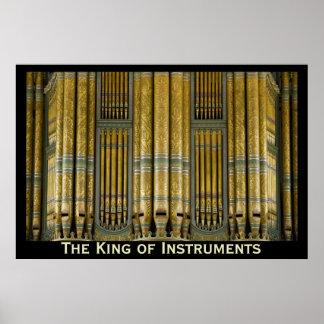 El rey del poster del órgano de los instrumentos -
