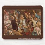 El rey Drinks By Jordaens Jacob (la mejor calidad) Alfombrilla De Ratón