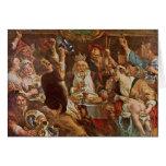 El rey Drinks By Jordaens Jacob (la mejor calidad) Tarjetón
