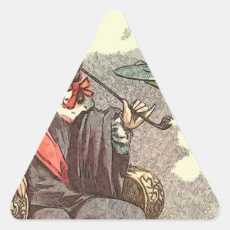 El rey fuma calcomania de trianguladas