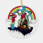 el rey lindo de los monstruos amistosos vector el  ornamento de navidad