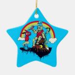 el rey lindo de los monstruos amistosos vector el  ornamento para arbol de navidad