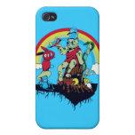 el rey lindo de los monstruos amistosos vector el  iPhone 4 carcasas