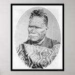 El rey maorí de Nueva Zelanda 1895 Posters