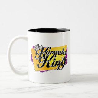 El rey Mug del Karaoke Taza Dos Tonos