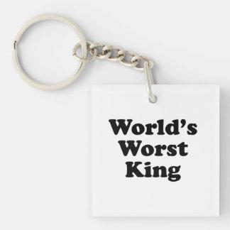 El rey peor del mundo llavero cuadrado acrílico a una cara
