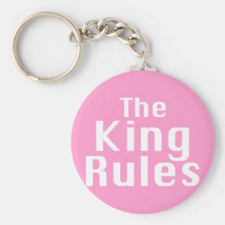 El rey Rules Gifts Llavero Redondo Tipo Pin