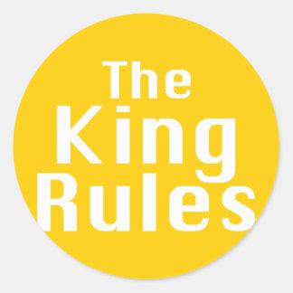El rey Rules Gifts Pegatina Redonda