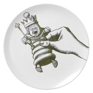 El rey Tenniel del ajedrez Plato De Cena